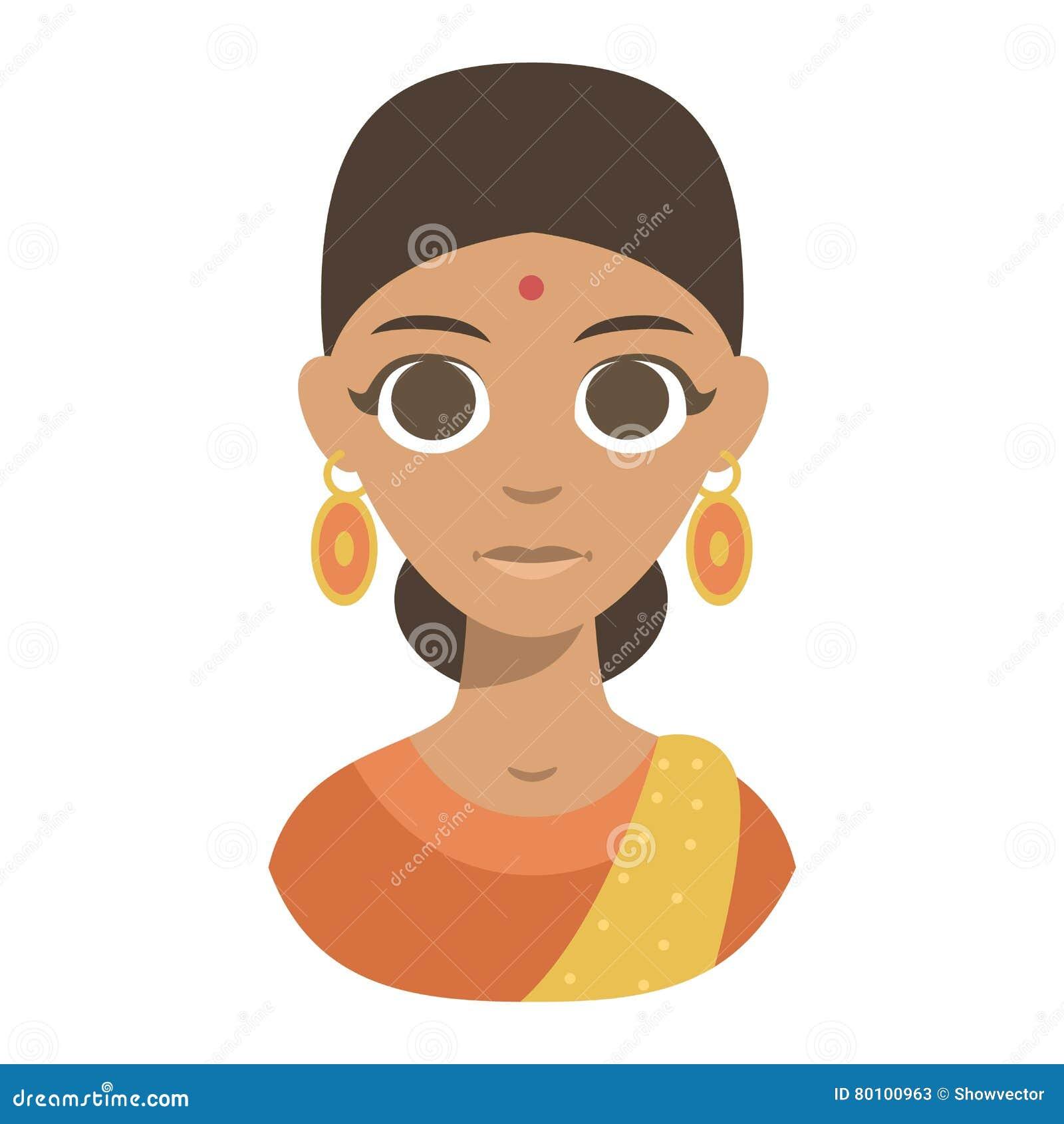 Vector Illustration Indian Girl Stock Vector Illustration