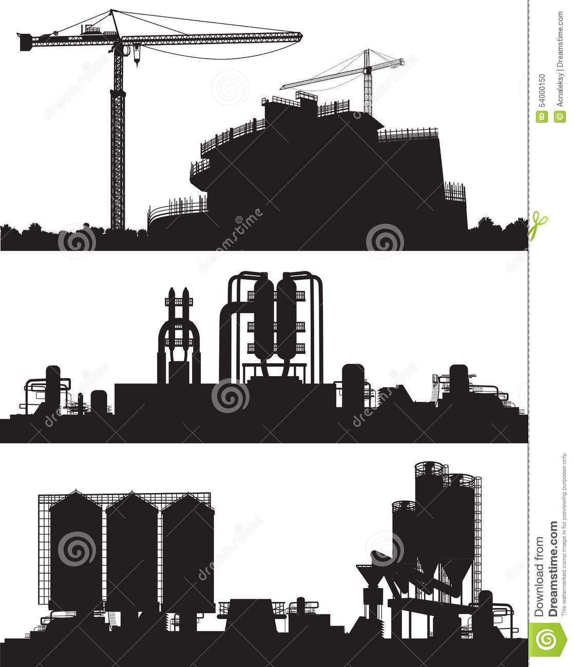 Vector Illustration Of Industry Area Stock Vector - Image ...