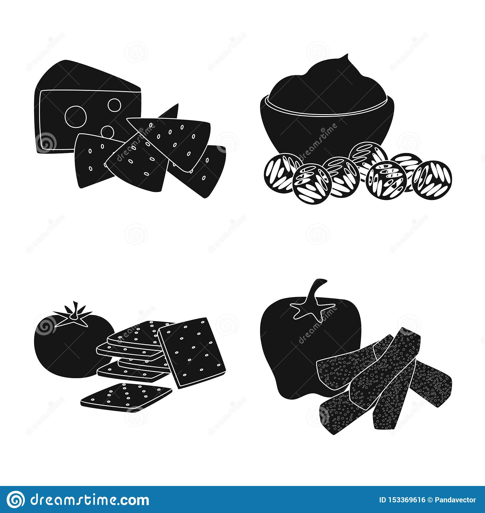 Vector illustration of ingredient and organic sign. Set of ingredient and product vector icon for stock.