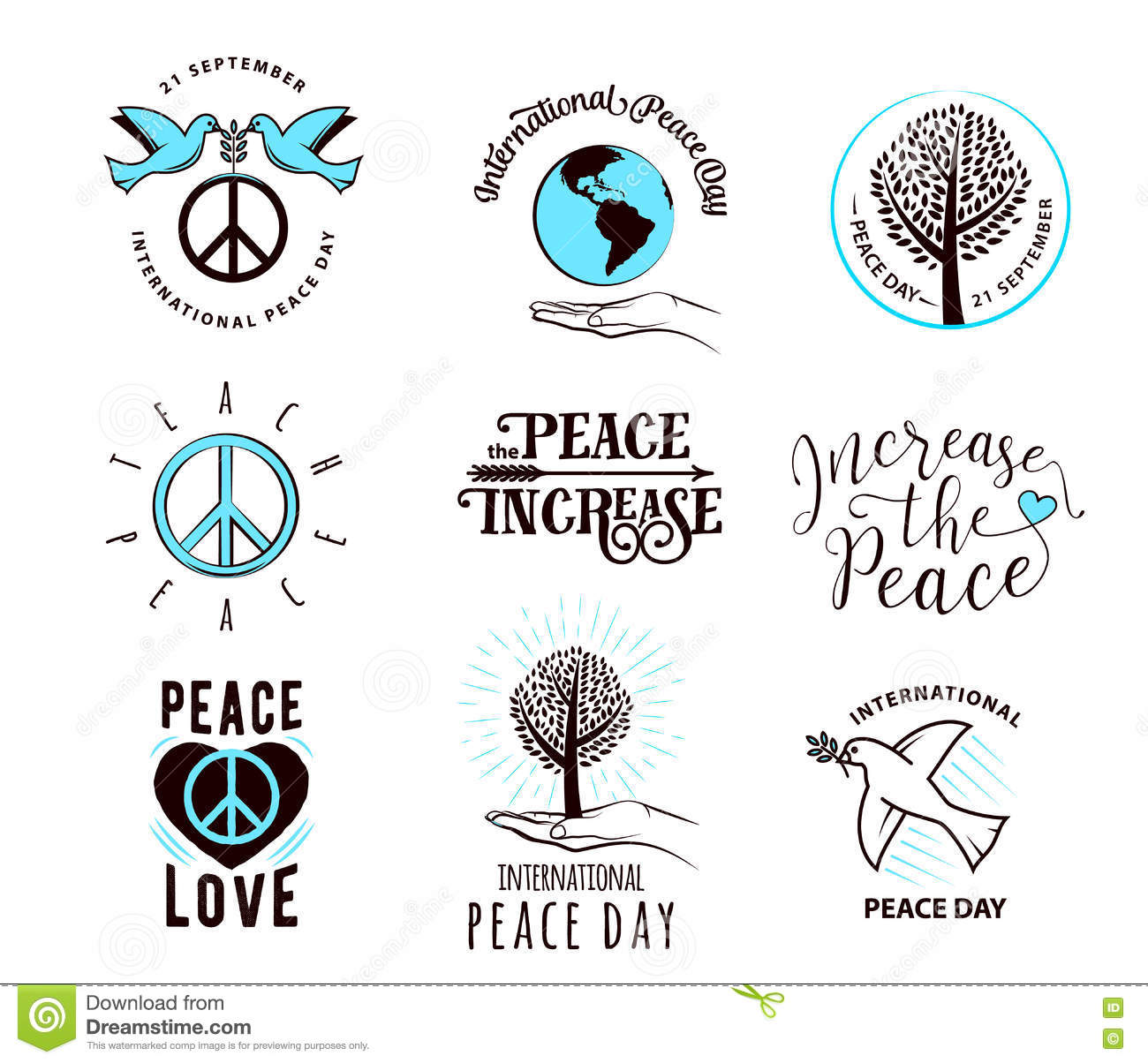 Quotes About World Peace Day: Earth Day Vector Quote Cartoon Vector