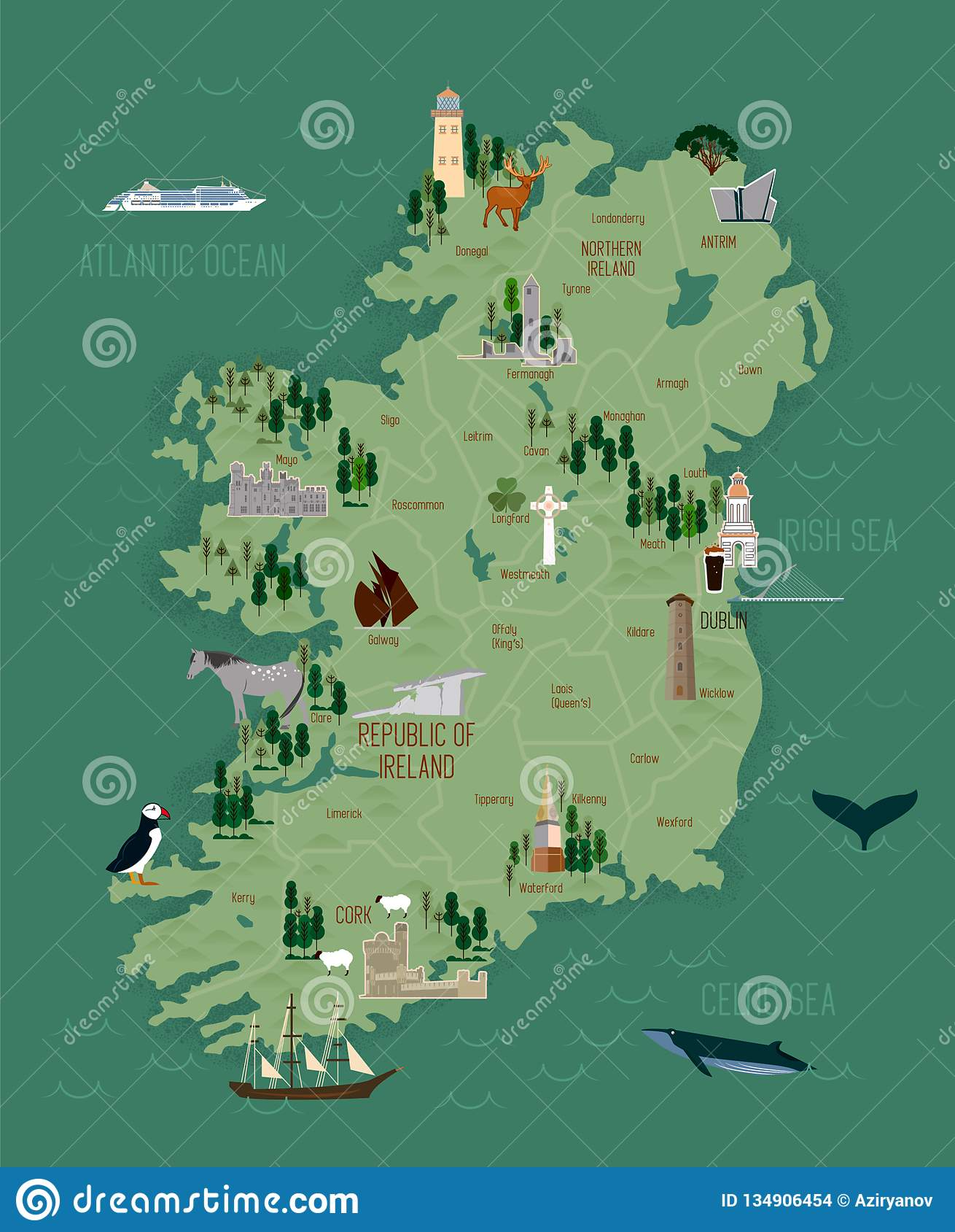 Vector Illustration Of Ireland Map Stock Vector ... on map of netherlands, map of european countries, map of japan, map of britain, map of british isles, map of dublin, map of skellig islands, map of denmark, map of united kingdom, map of ring of kerry, map of united states, map of prince edward island, map of eastern hemisphere, map of yugoslavia, map of northeast us, map of sweden, map of scotland, map of london, map of hong kong, map of philippines,