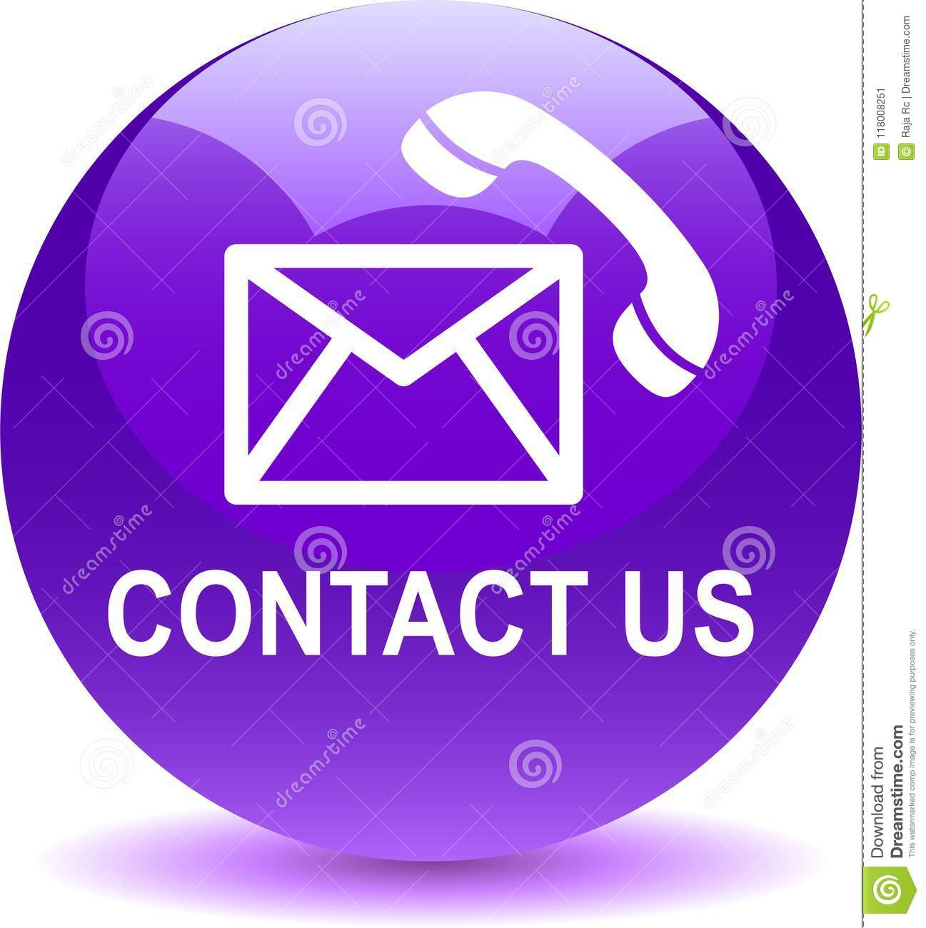 Contact Us Mail Call Icons Violet Stock Vector Illustration Of