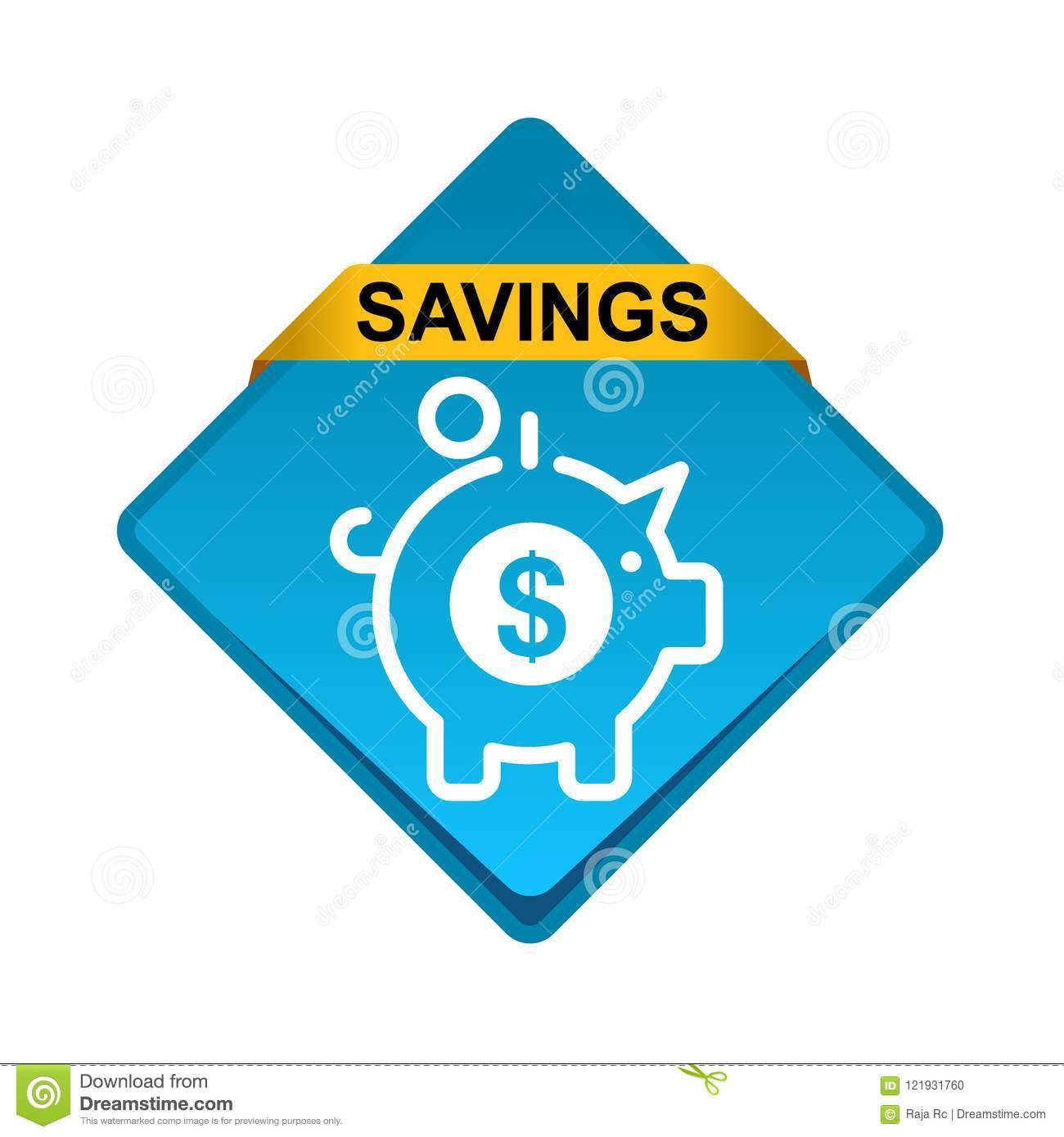 save money icon web button stock vector illustration of