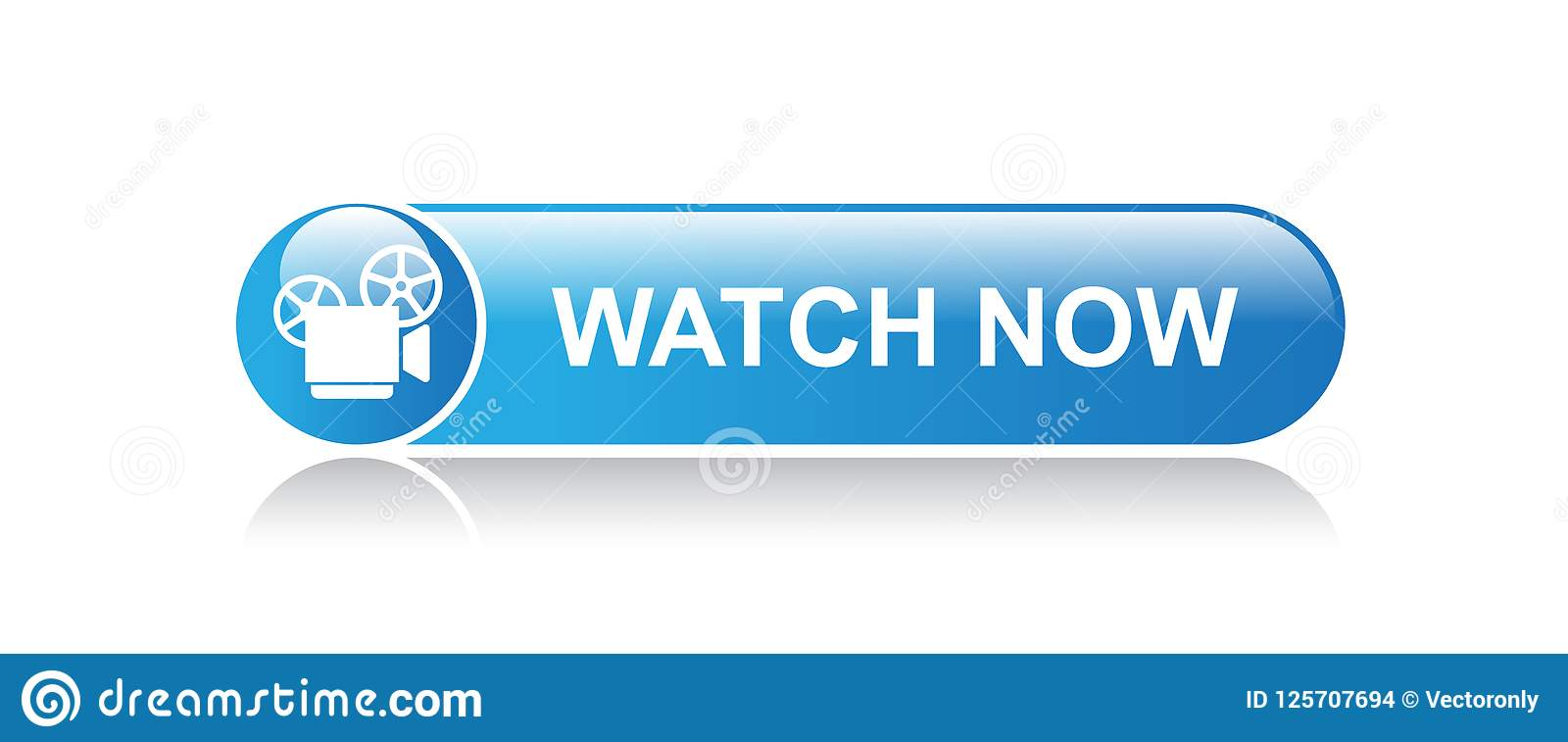 Watch video now stock vector  Illustration of channel