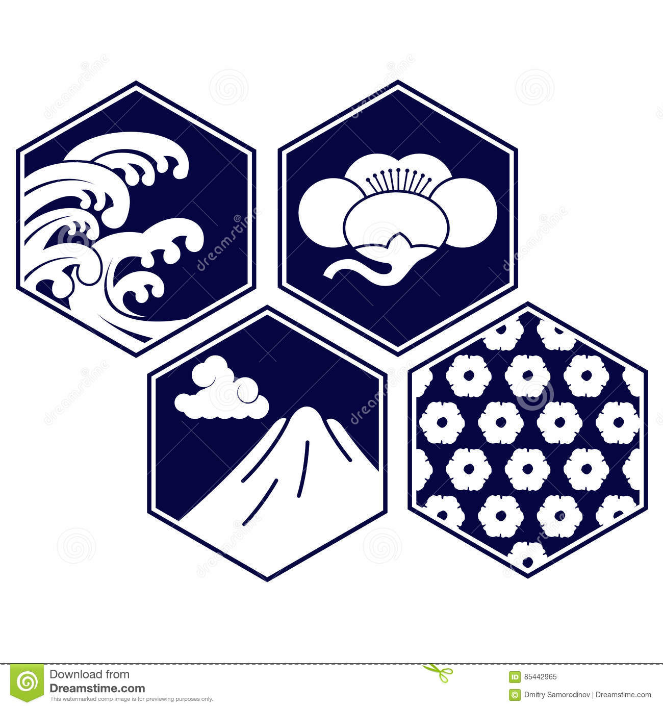 Vector Illustration Japanese Symbol Stock Illustration