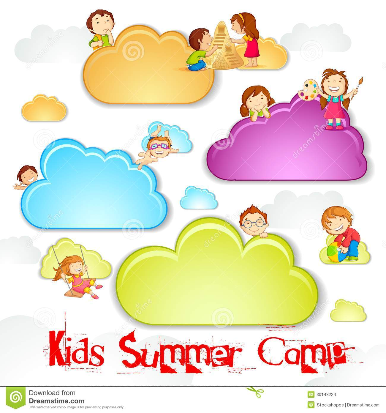 Summer Camp for Kids Stock Summer Camp Vector