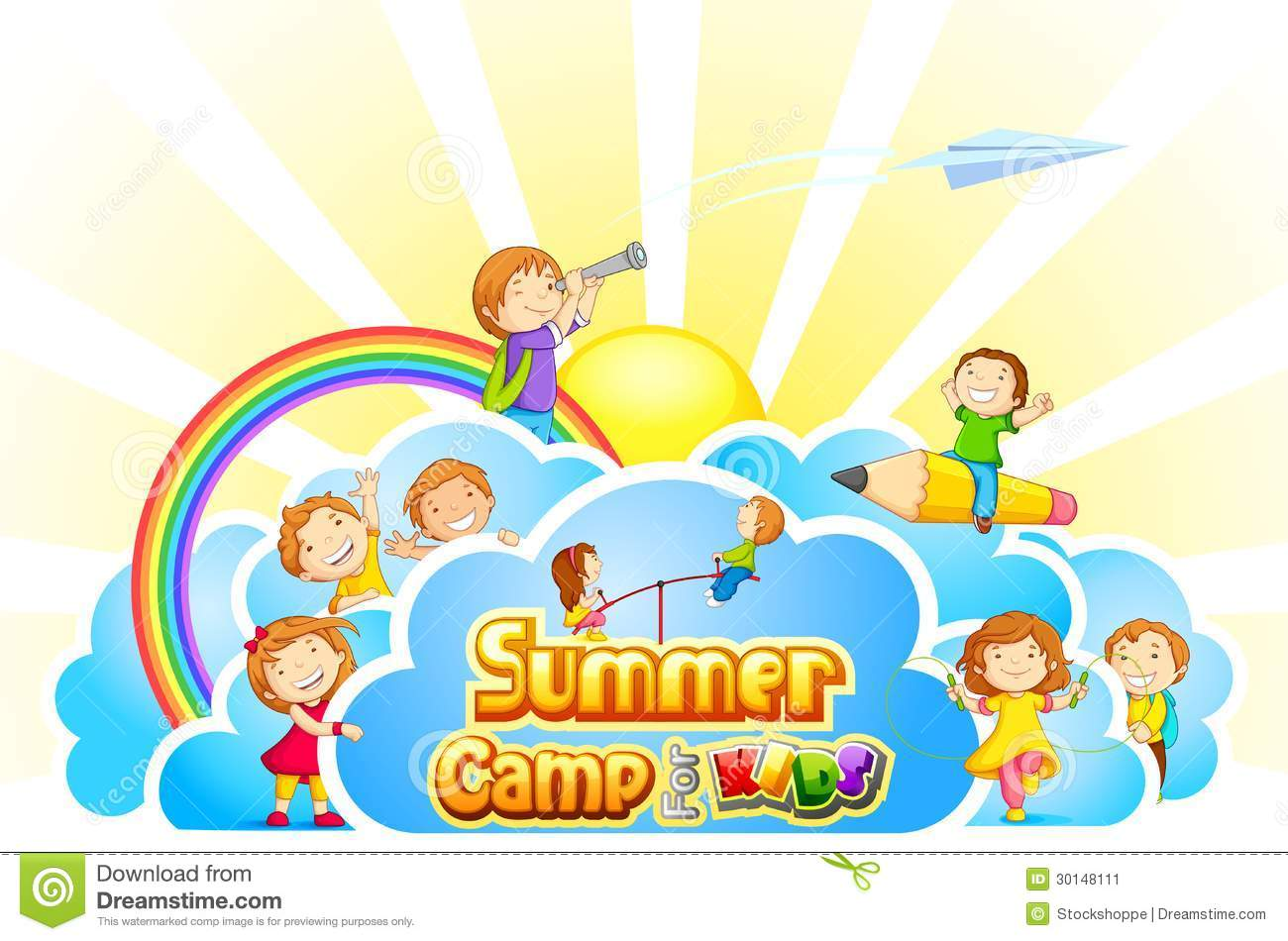 Summer Camp For Kids Stock Image - Image: 30148111