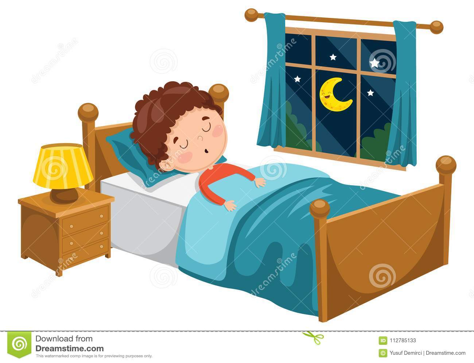 Vector Illustration Of Kid Sleeping Stock Illustration ...