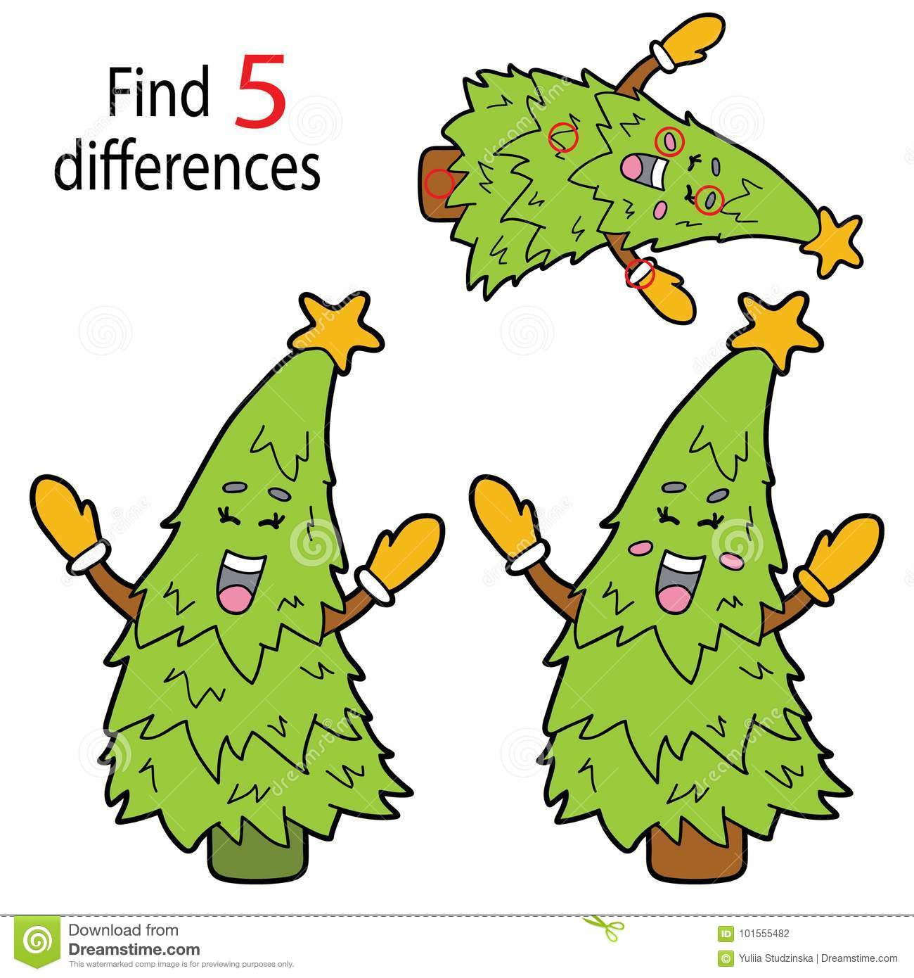 Tree differences stock vector. Illustration of leisure - 101555482