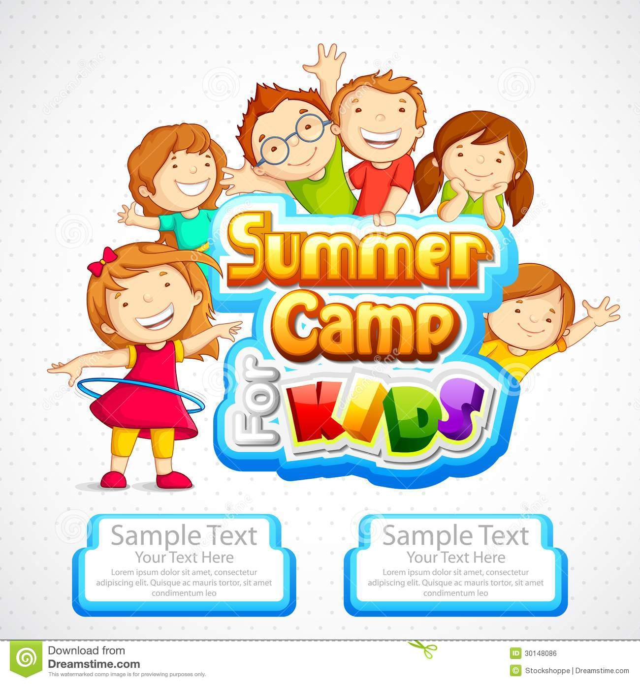 Summer Camp for Kids s... Summer Camp Vector