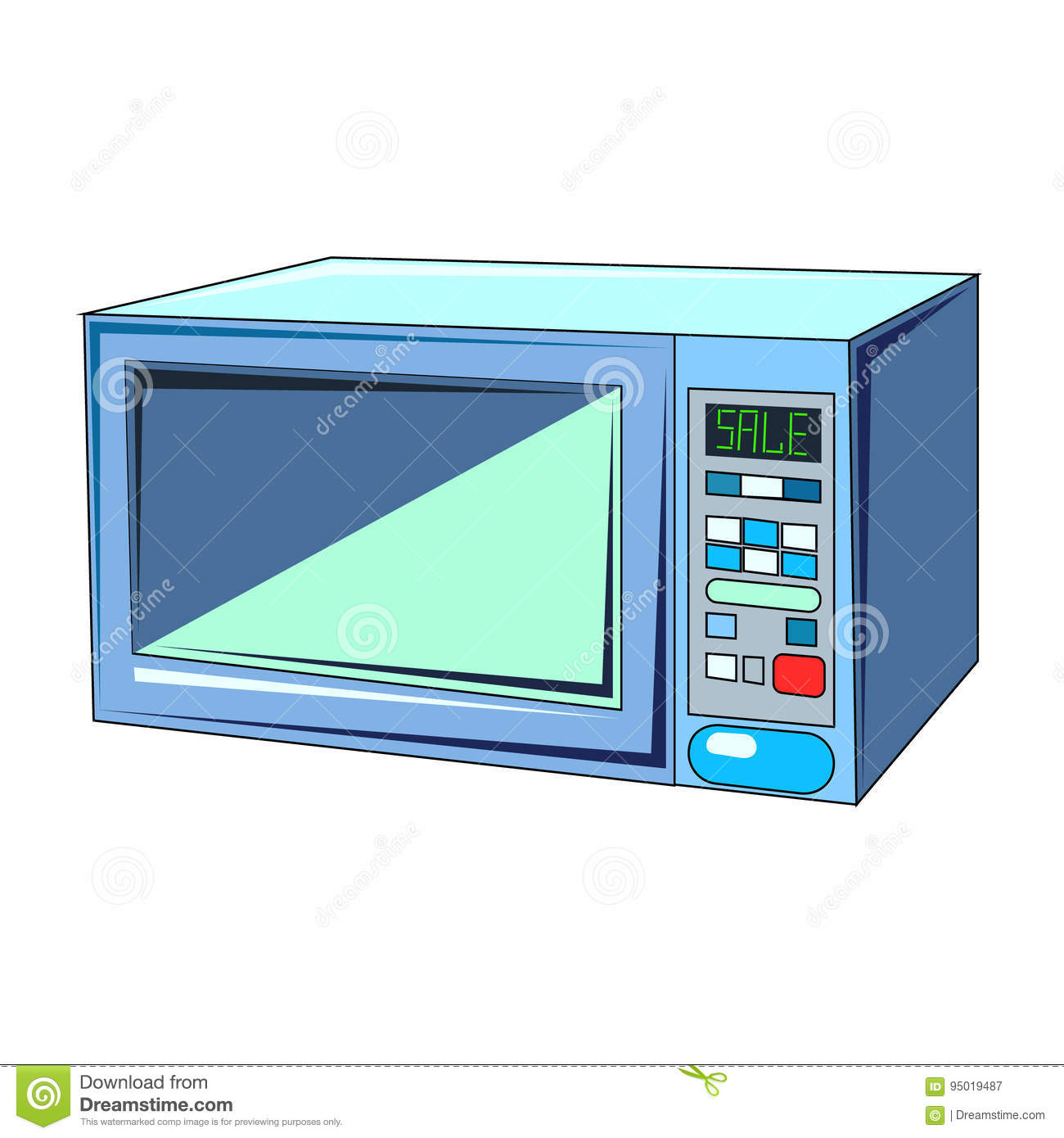 Vector Microwave Oven Cartoon Vector Cartoondealer Com