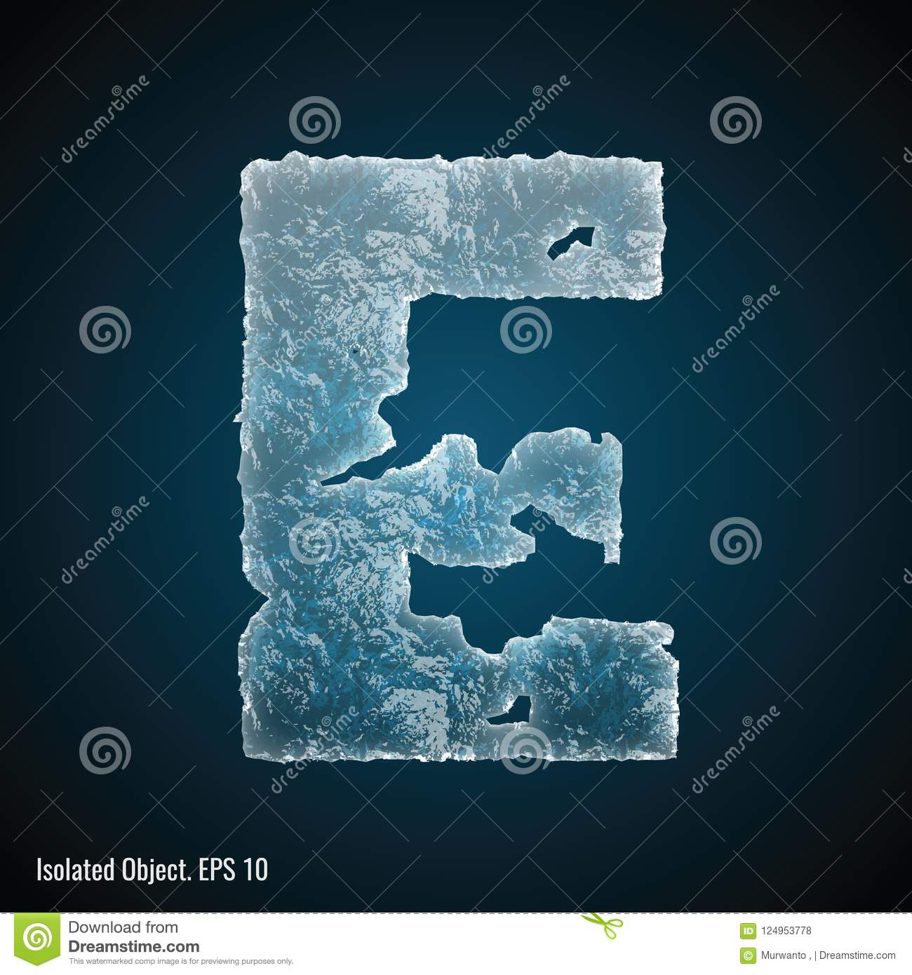 Ice Font of Letter E