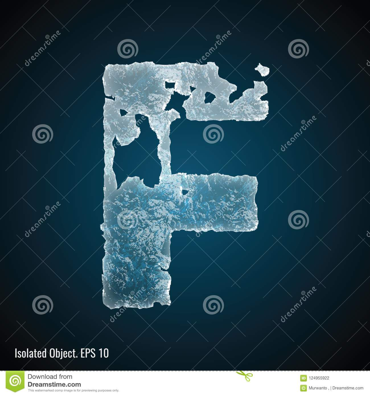 Ice Font of Letter F
