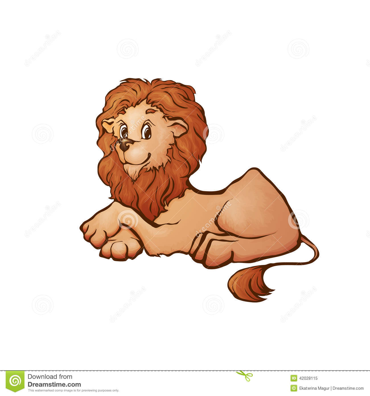 vector illustration of lion in cartoon style stock vector image
