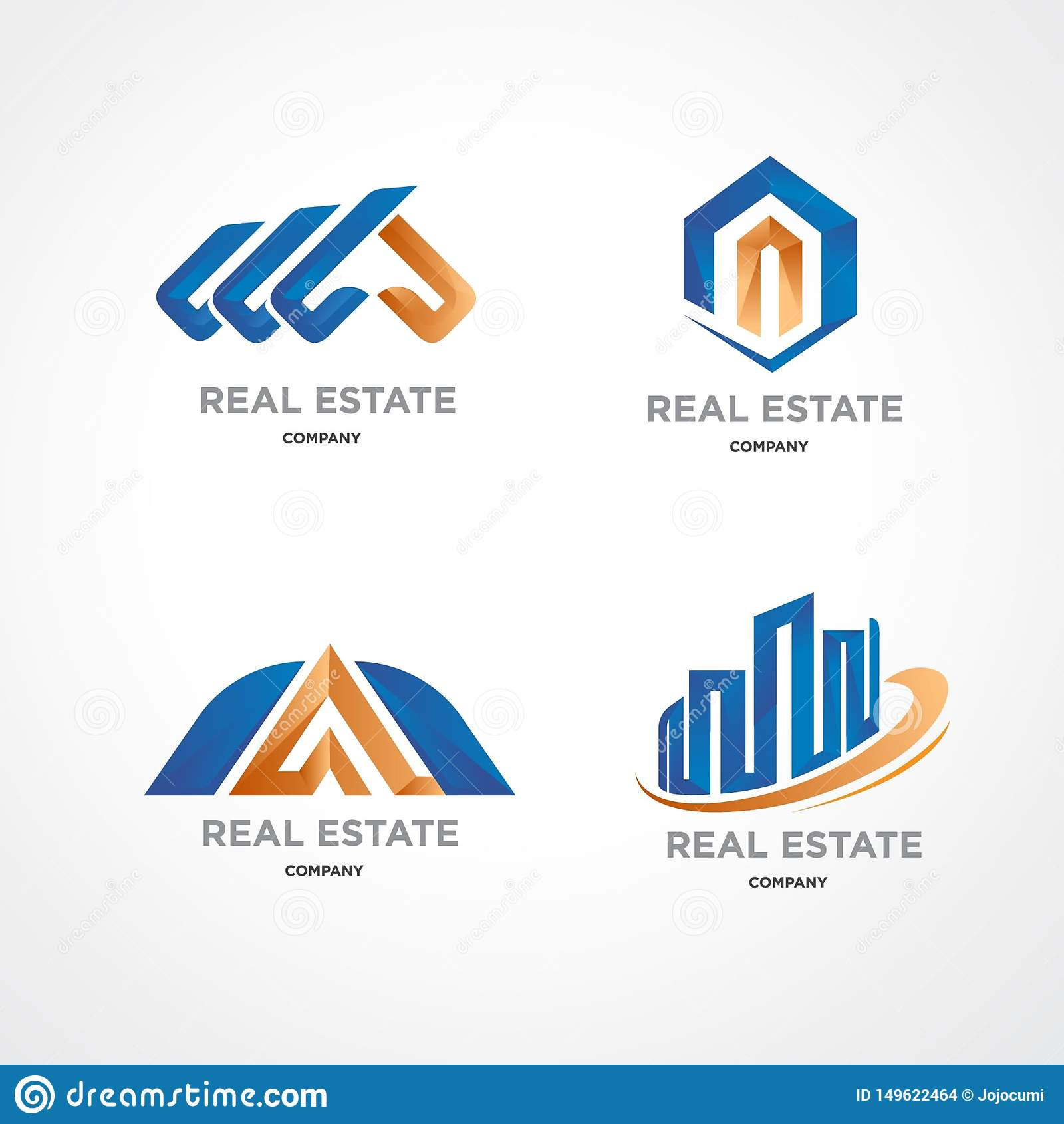 Logo Template For Property Business Stock Vector