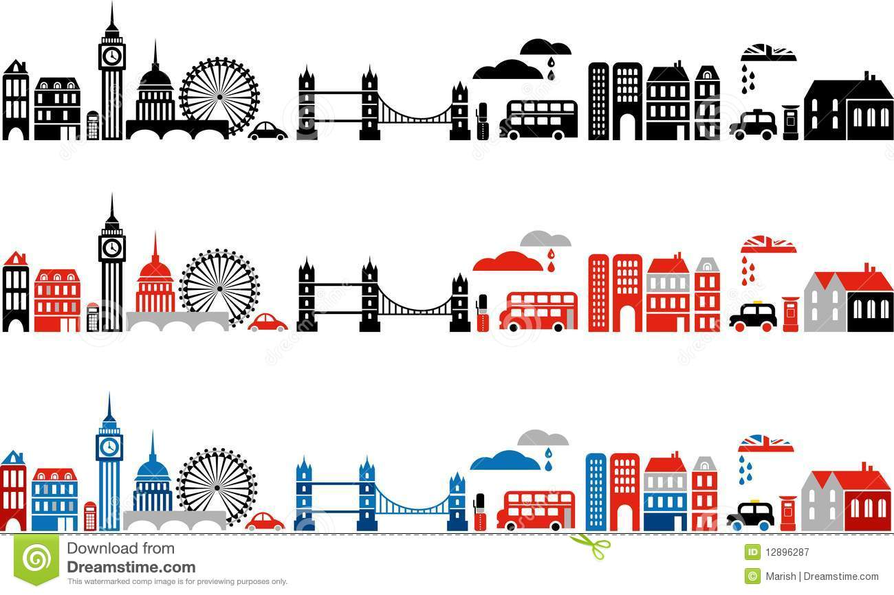 Vector Illustration Of London City - 2 Royalty Free Stock Photography ...