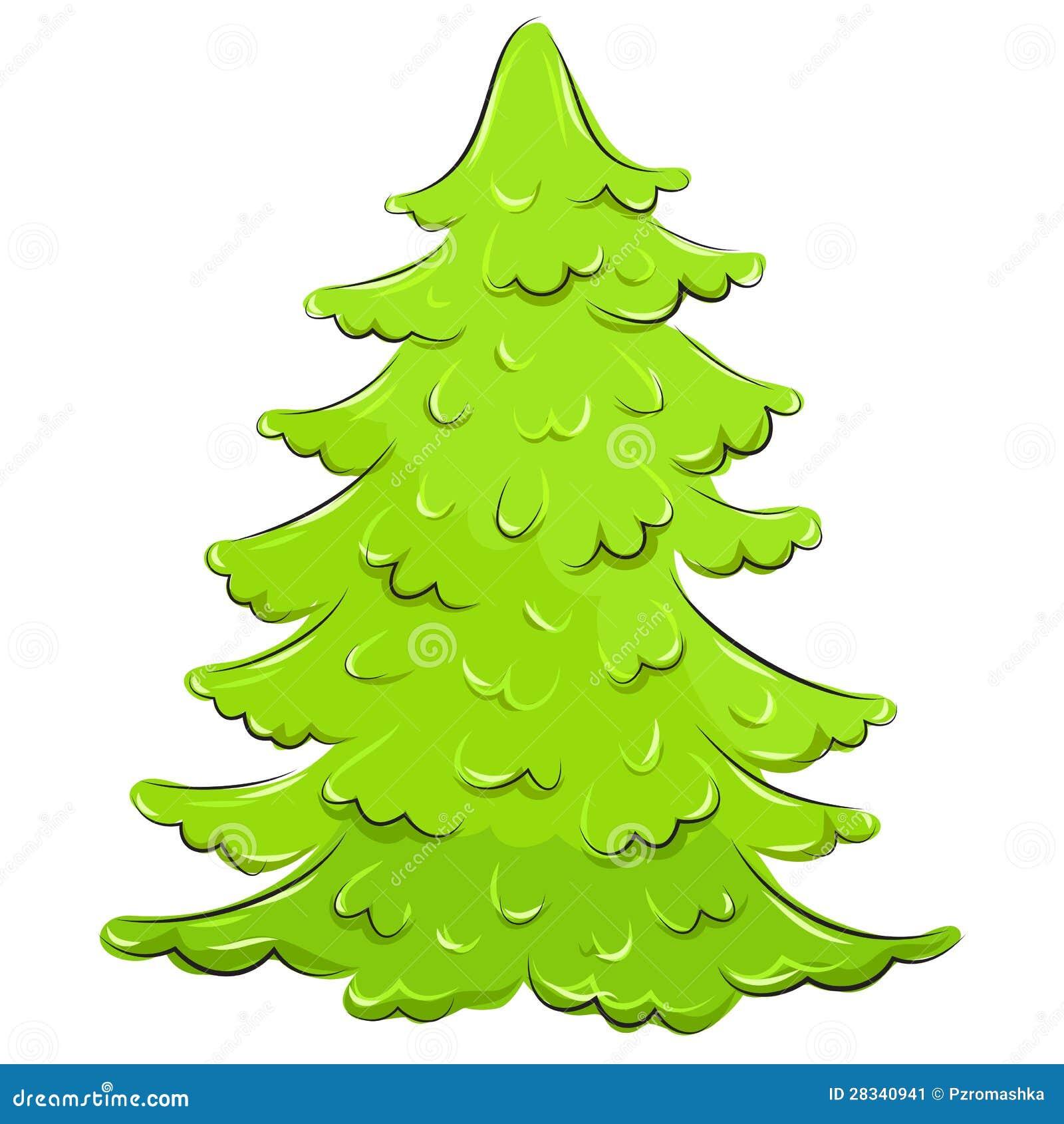 Vector Illustration. Lush Christmas Tree Stock Image - Image: 28340941