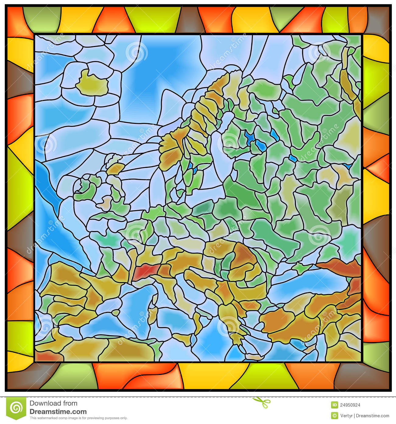 vector illustration of europe - photo #22