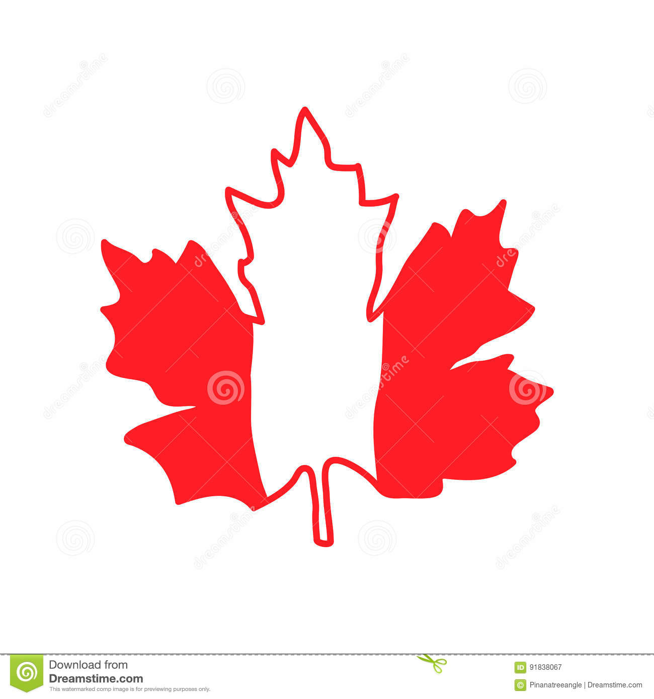 Vector Illustration With Maple Leaf Canada Symbol Stock