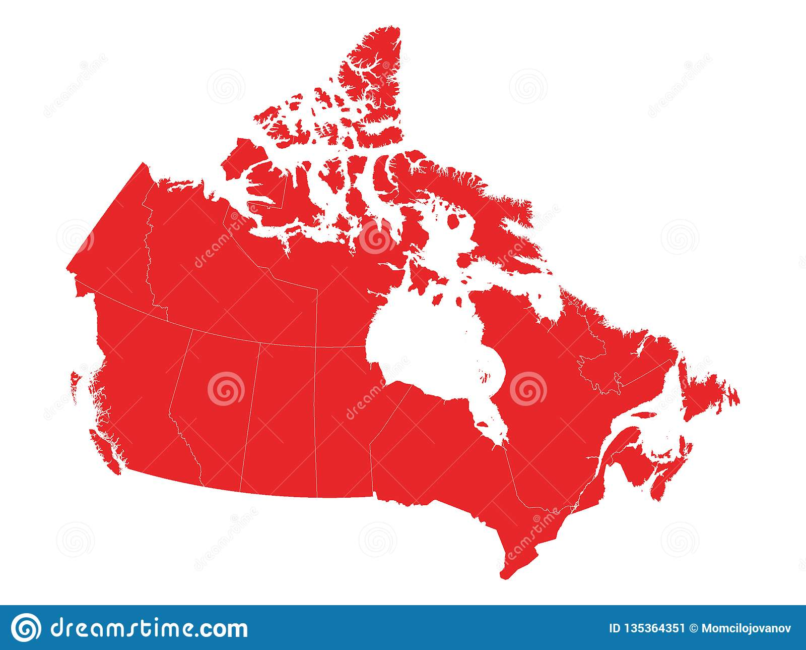 Maps Of Canada With Provinces Stock Vector - Illustration of ...