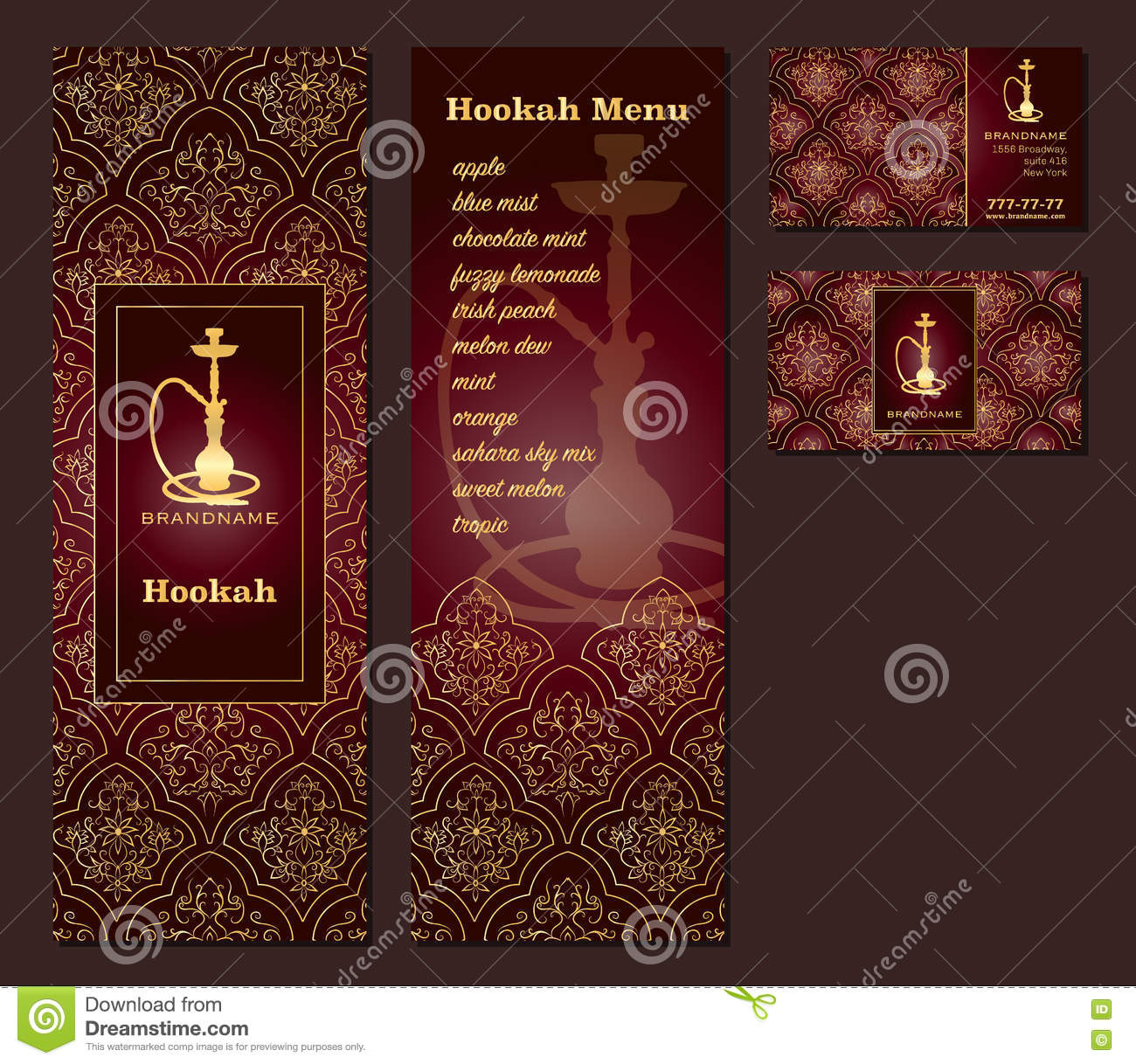 Vector illustration of a menu for a restaurant or cafe arabian download vector illustration of a menu for a restaurant or cafe arabian oriental cuisine with hookah reheart Choice Image
