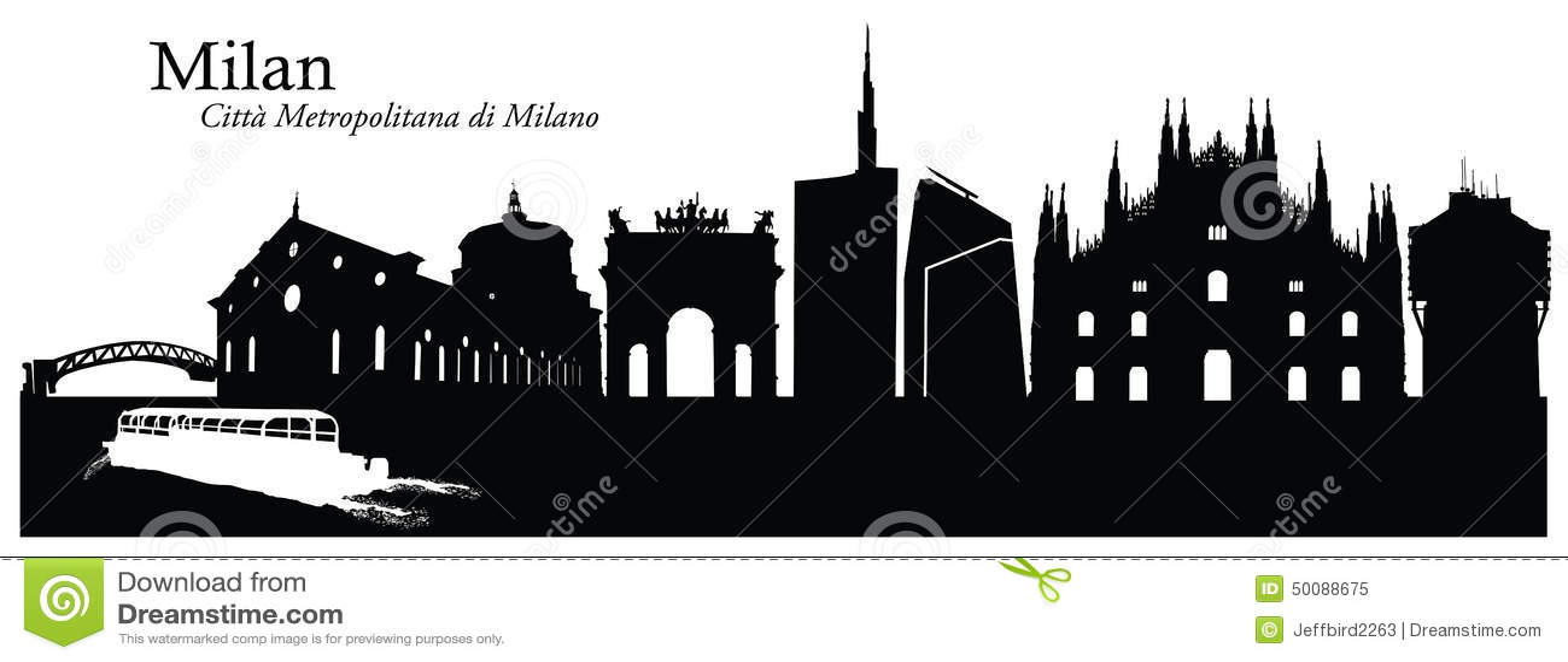 vector illustration of milan cityscape skyline stock chicago skyline vector download chicago skyline vector download