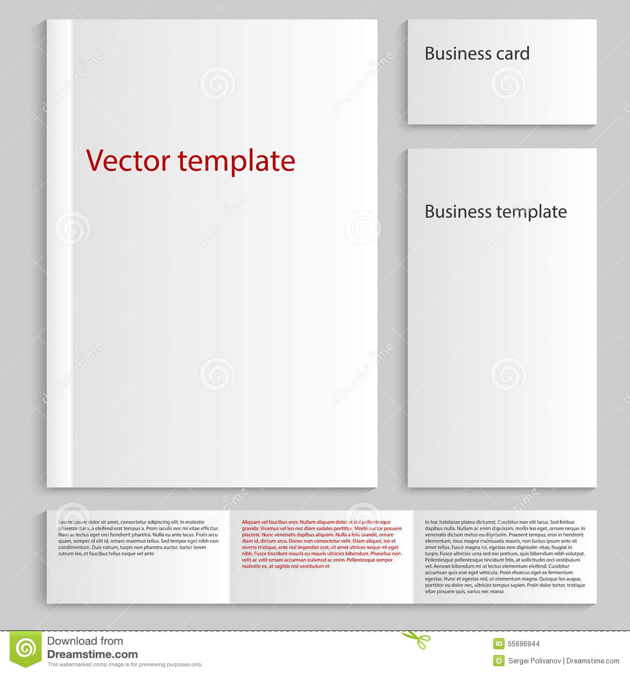 Vector illustration of a mock up card a4 business card template download vector illustration of a mock up card a4 business card template stock vector cheaphphosting Images