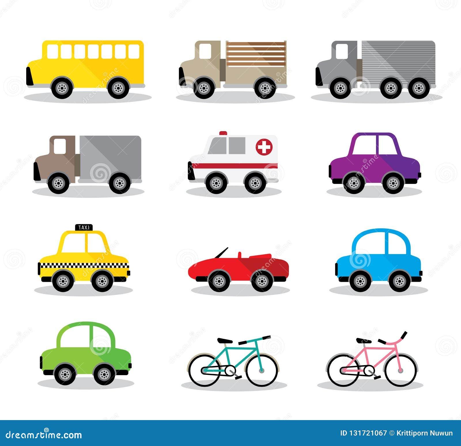 Vector Illustration Beside Model Many Car Stock Vector