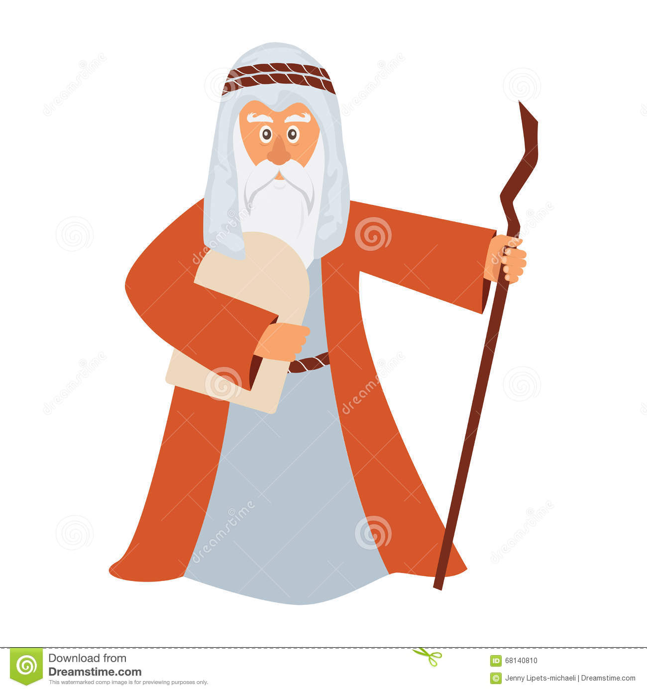 Moses From Bible For Passover Stock Vector - Image: 39067665