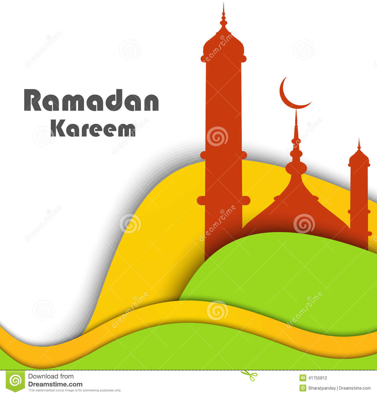 Mosque background for ramadan kareem stock photography image - Vector Illustration Of Mosque Wave Ramadan Kareem Stock Photography