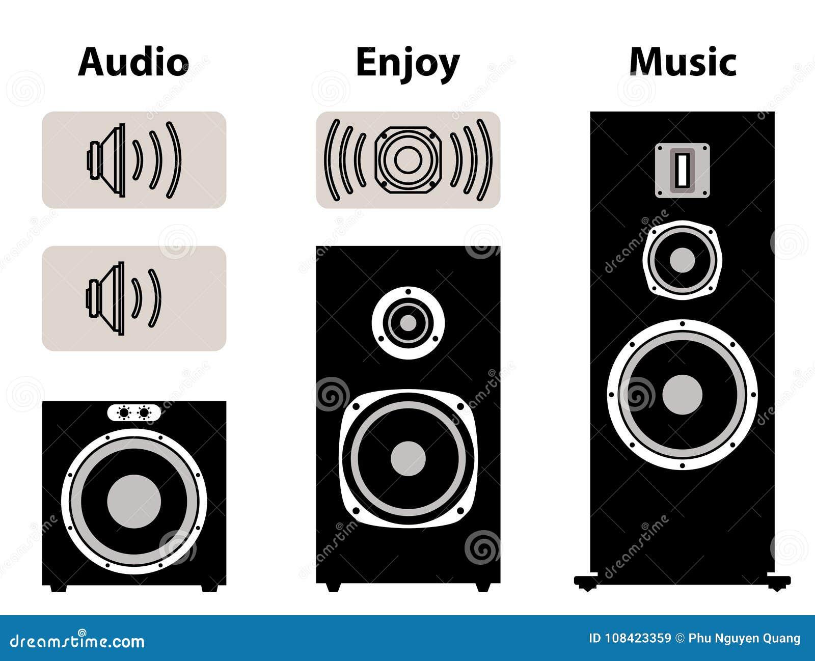 Audio Equipment With Volume Symbol  Speaker And Speaker