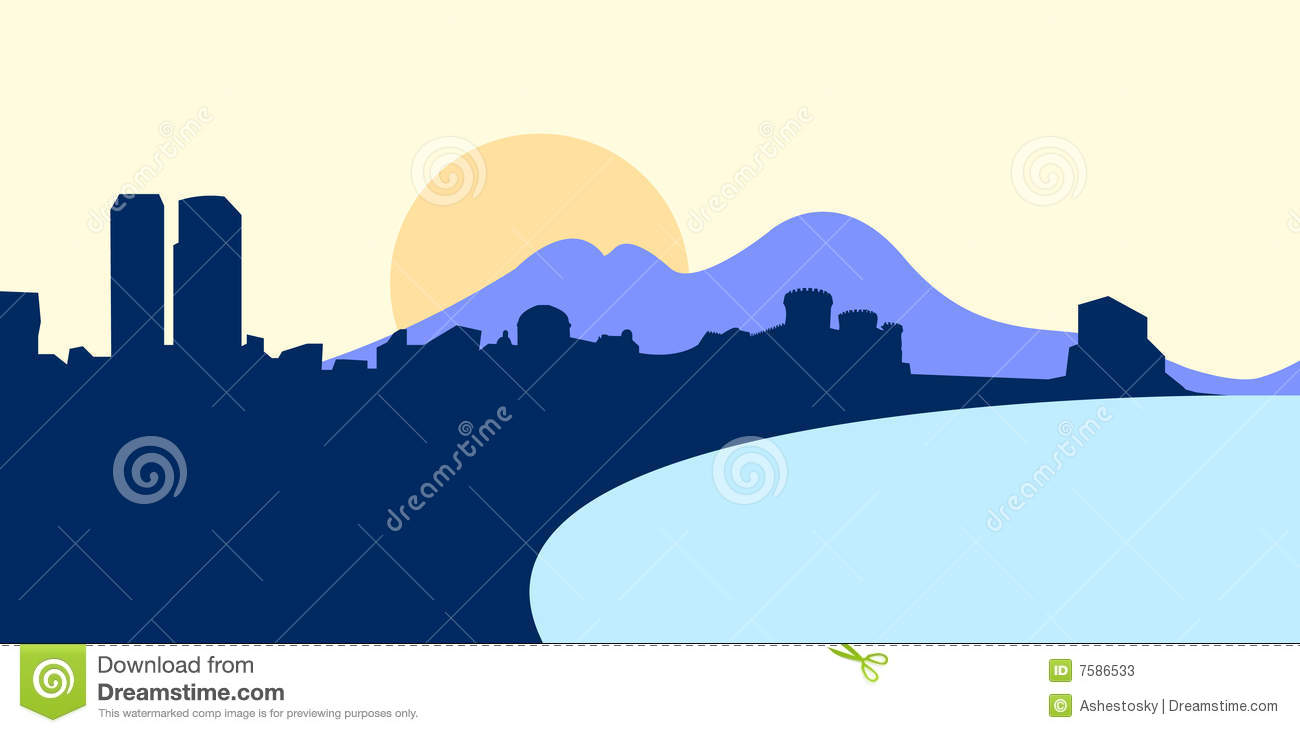 Vector Illustration Of Naples Stock Photos Image 7586533