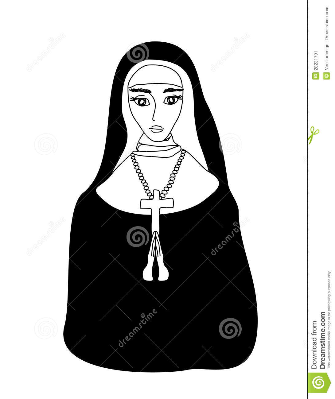 More similar stock images of ` Vector illustration of nun `