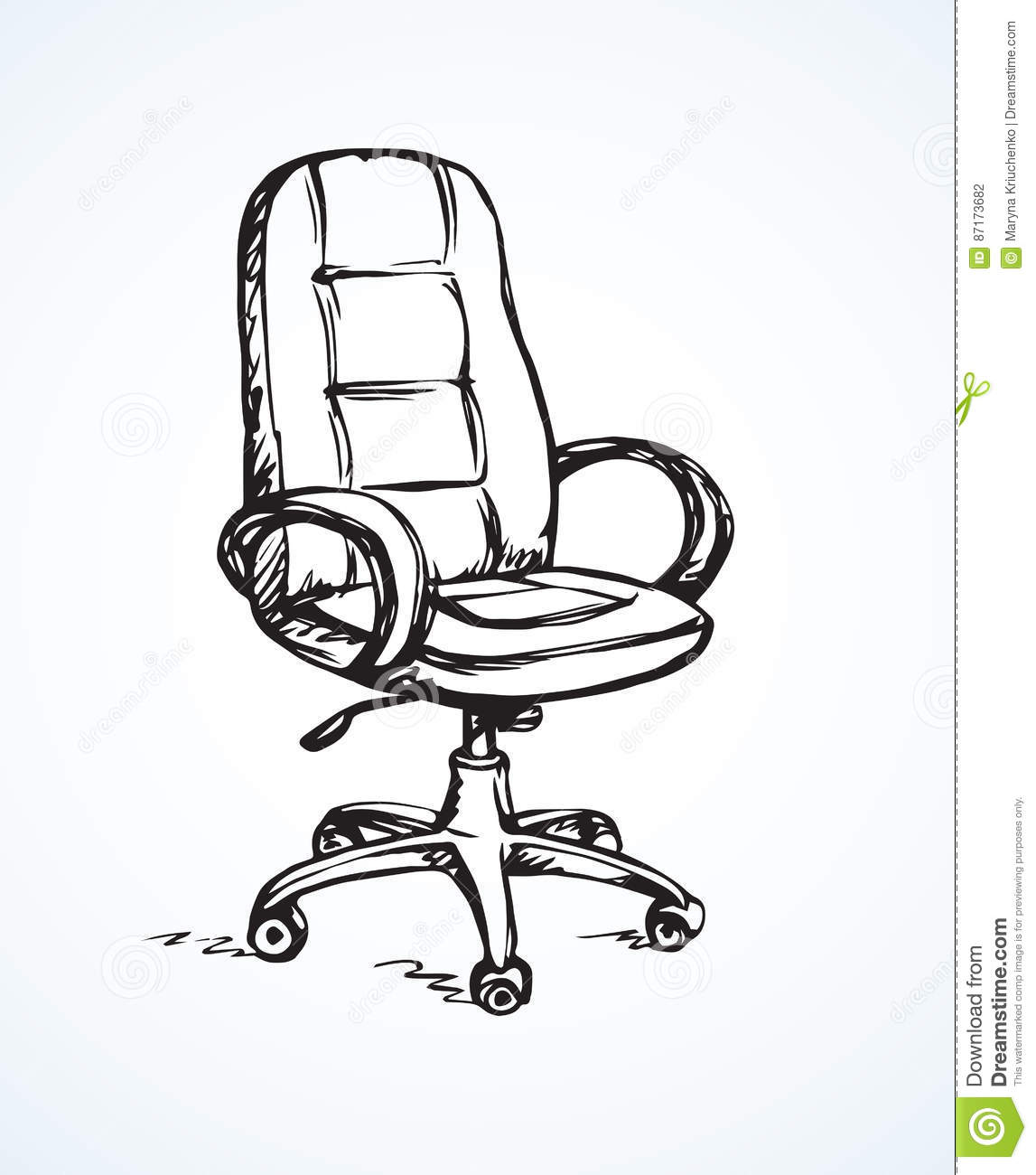 Awesome Vector Illustration Office Chair Stock Vector Onthecornerstone Fun Painted Chair Ideas Images Onthecornerstoneorg