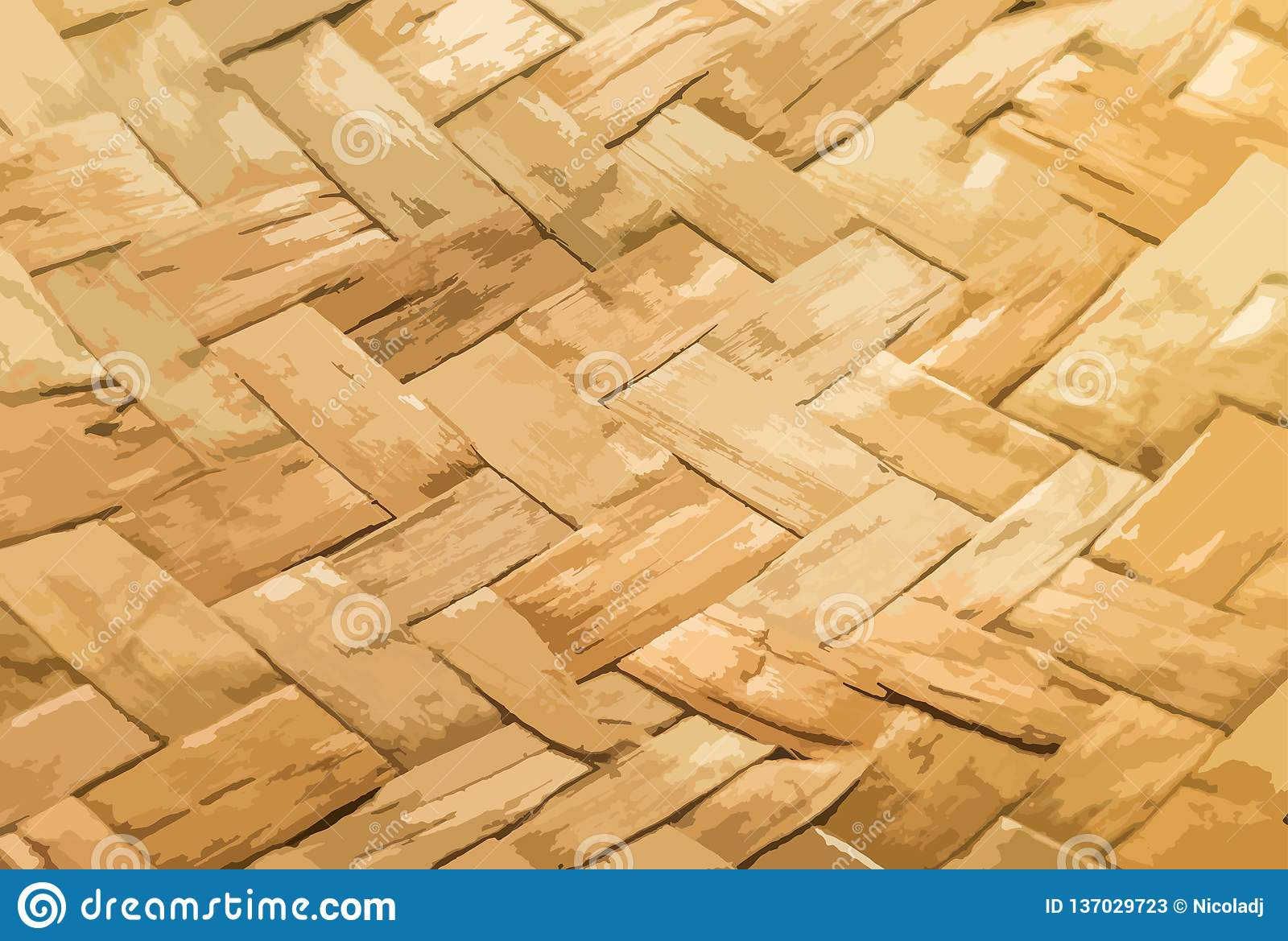 Vector illustration the texture of the weaved straw