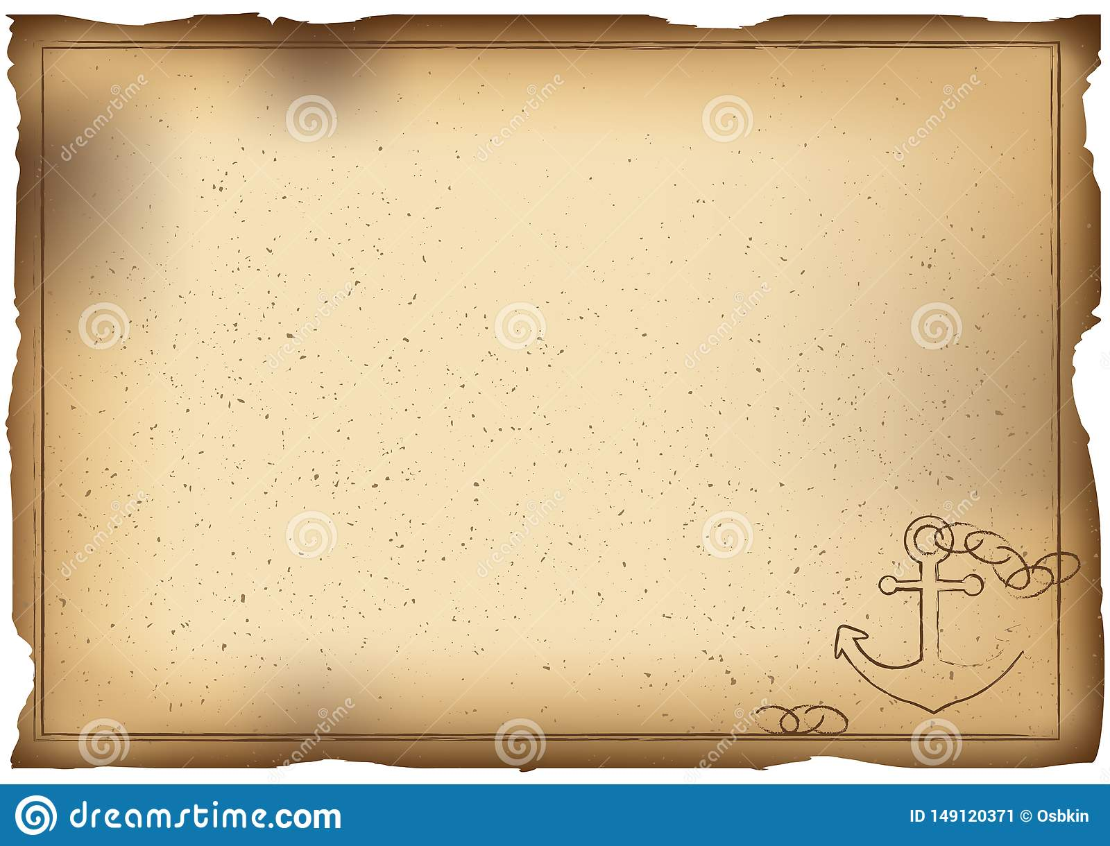 Old paper background with anchor