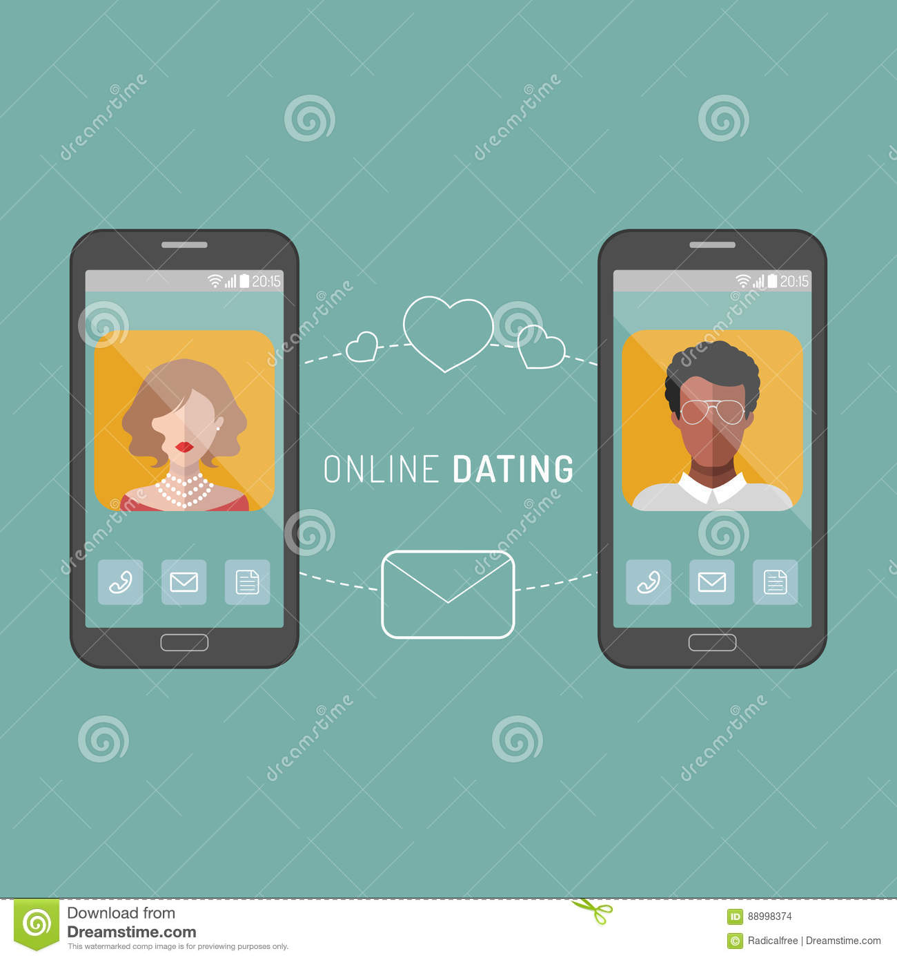 Dating site app icons