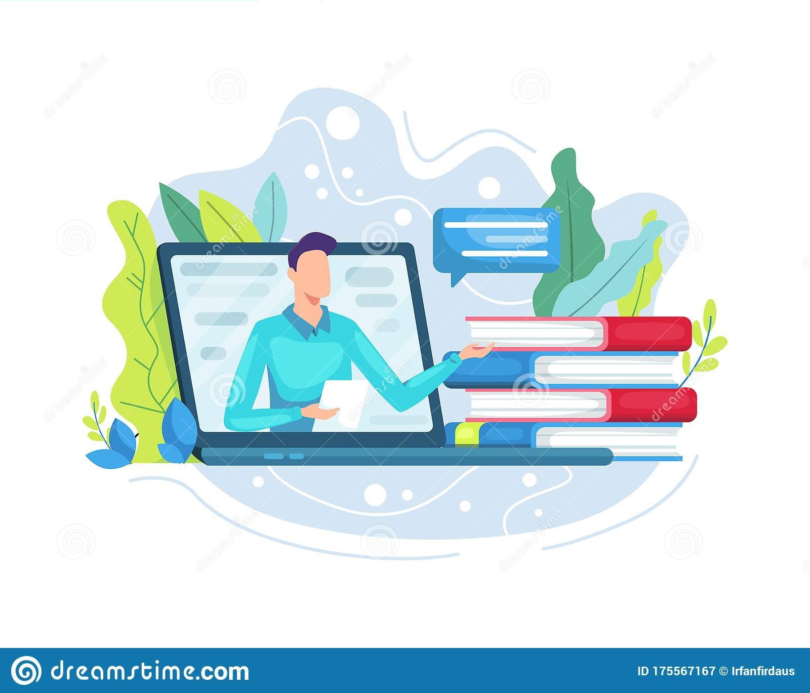Vector Illustration Online Education Or E Learning Concept Stock Vector Illustration Of Knowledge Class 175567167