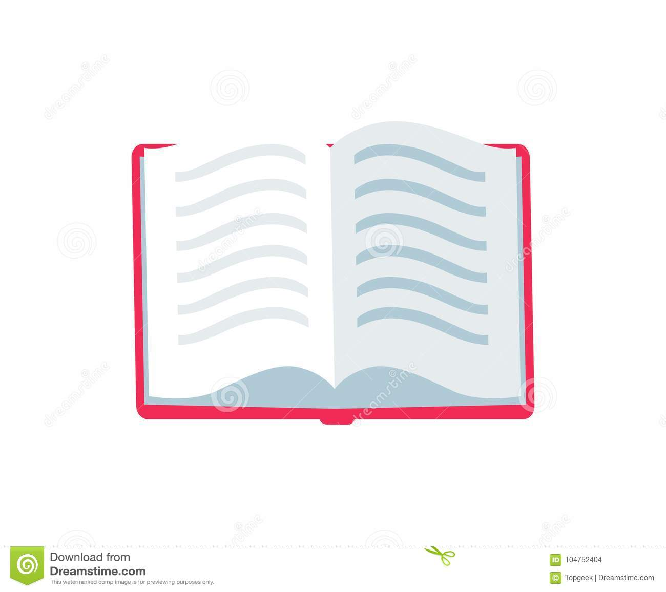 Book Cover Illustration Royalties : Open book with text icon vector illustration stock