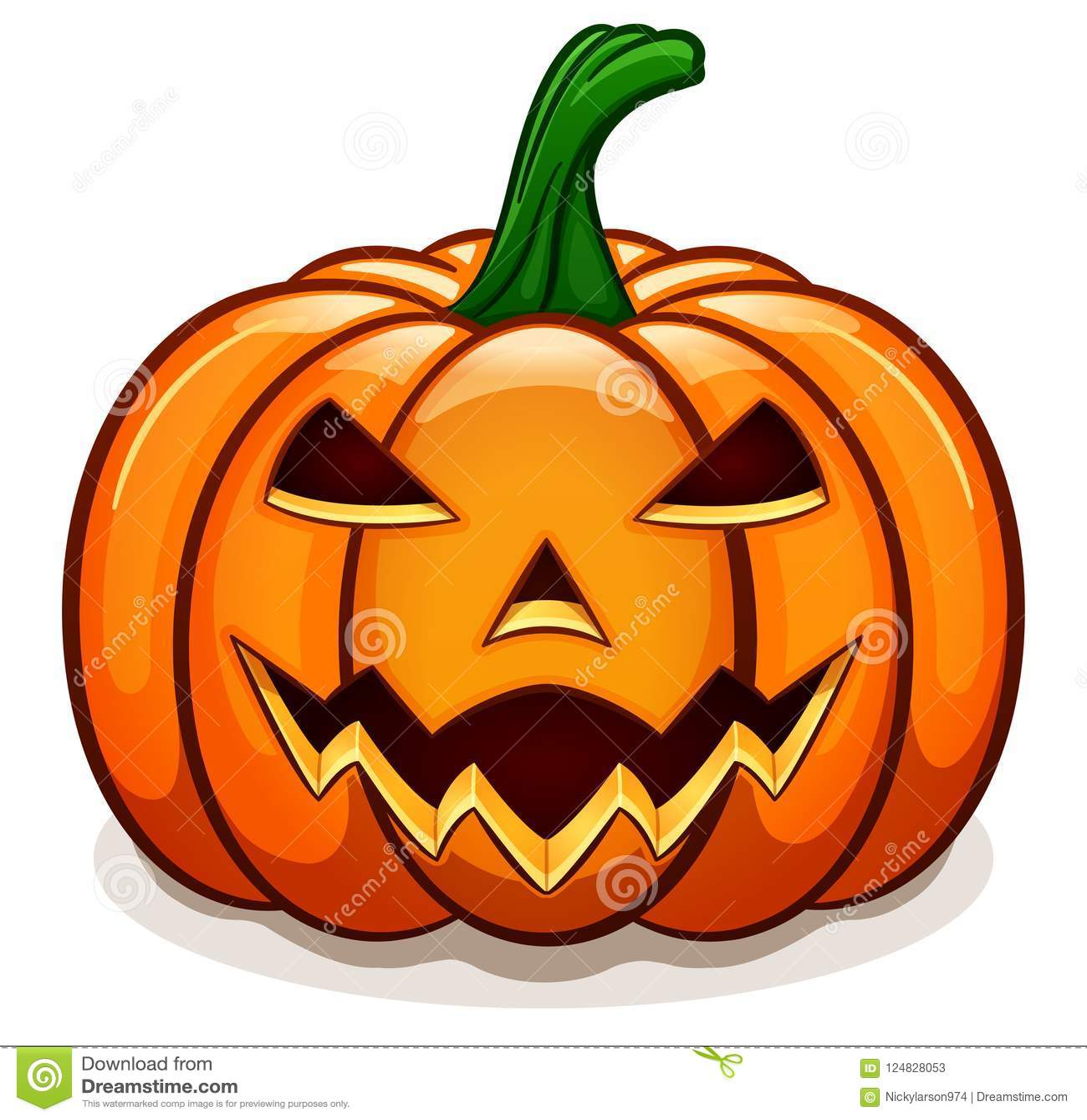 vector orange halloween pumpkin design stock vector - illustration
