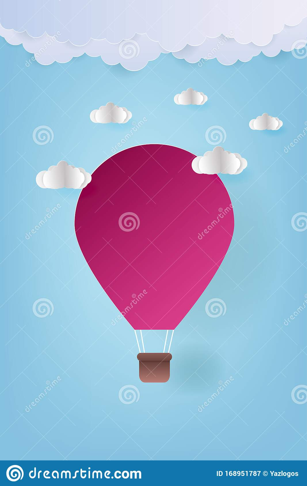 Origami Made Colorful Hot Air Balloon Stock Vector (Royalty Free ... | 1689x1067