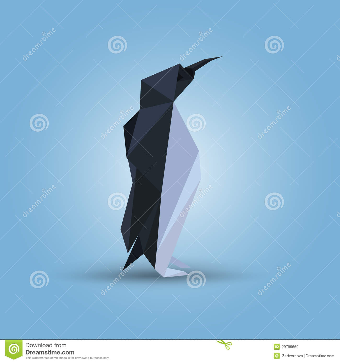 Illustration Of Origami Penguin Royalty Free Stock Images ... - photo#47