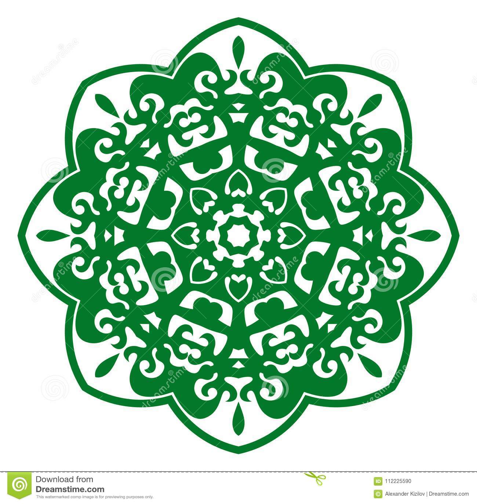 Vector Illustration Ornament With Caucasian Motifs