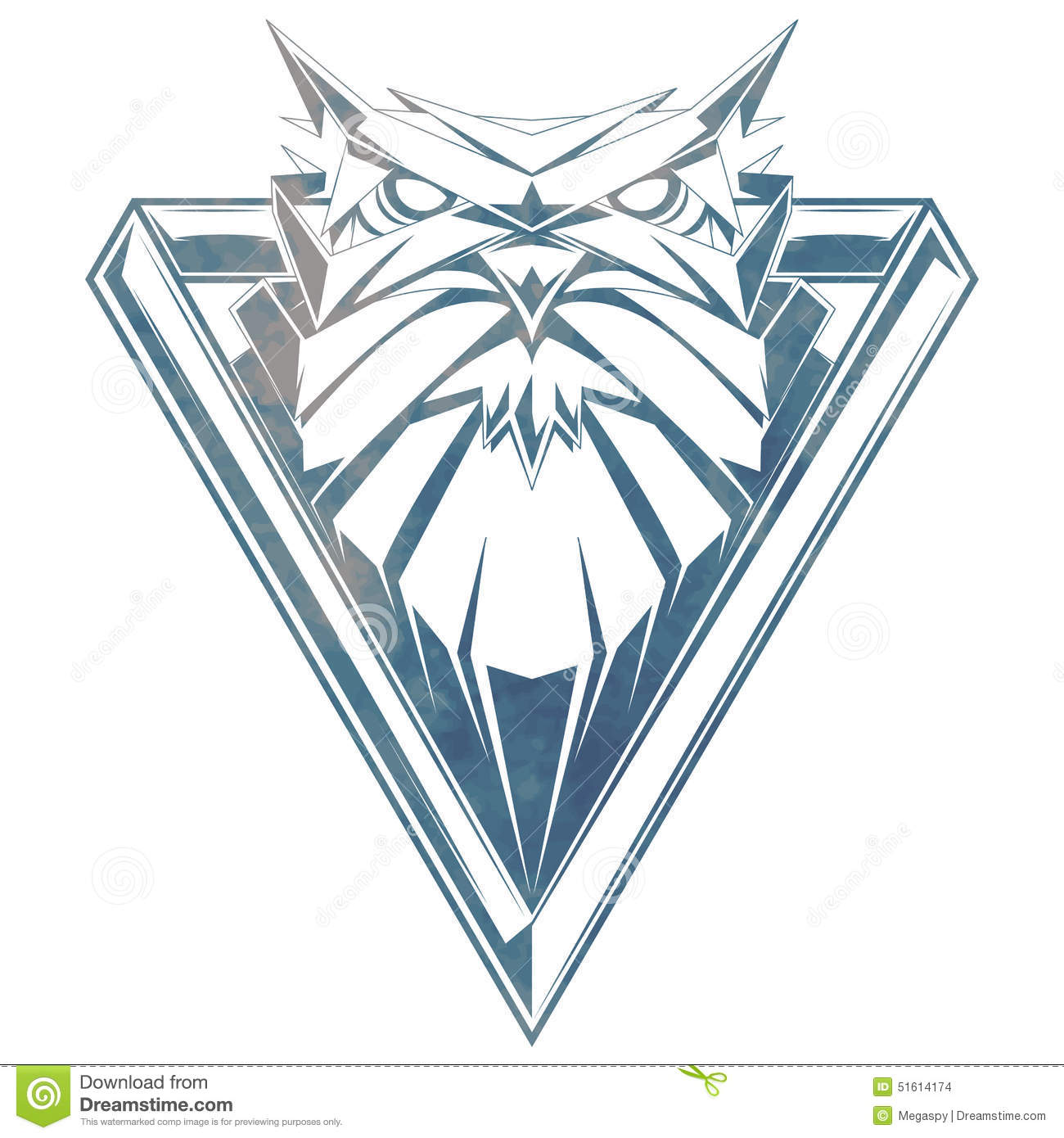 Vector Illustration With Owl Head. Stock Vector - Image ...