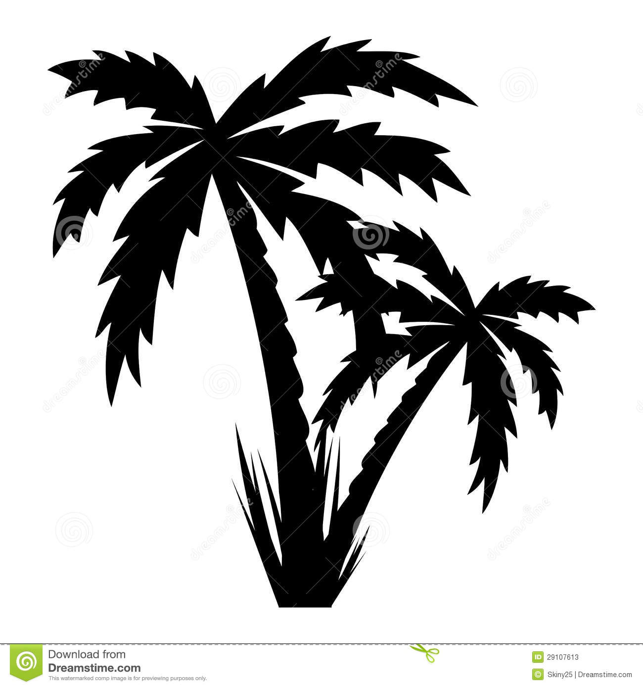 Vector Illustration Of Palm Trees . Stock Photos - Image: 29107613