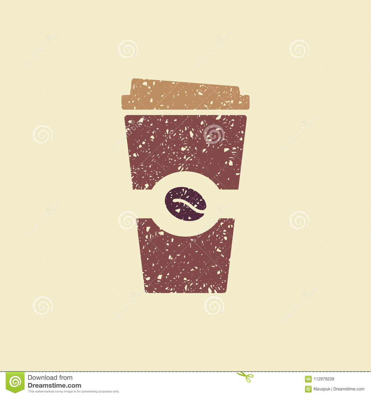 Vector illustration paper coffee cup