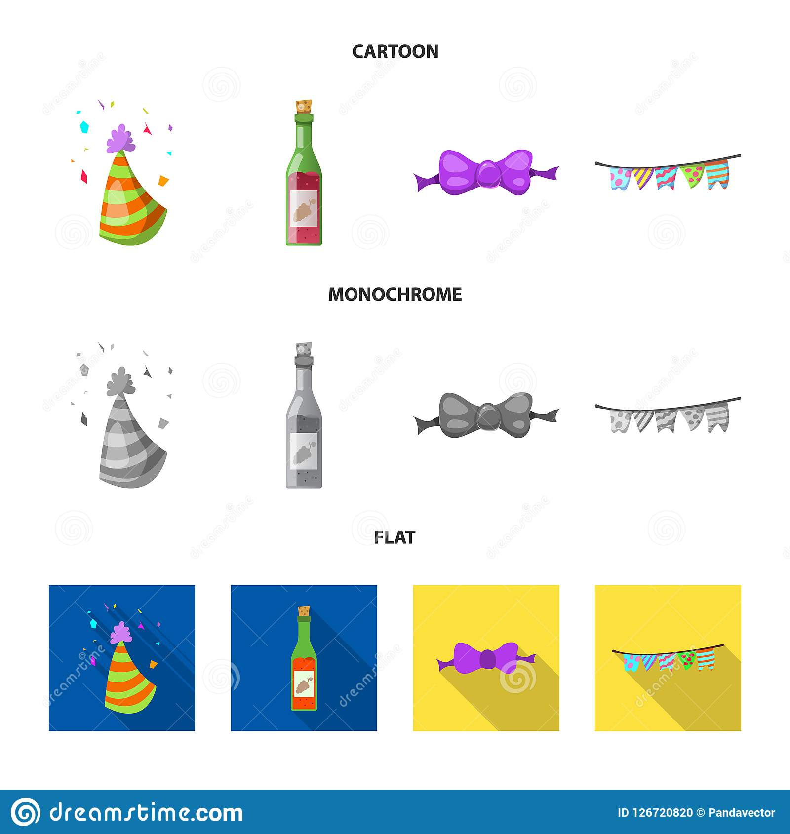 Vector Design Of Party And Birthday Icon Collection Of Party And