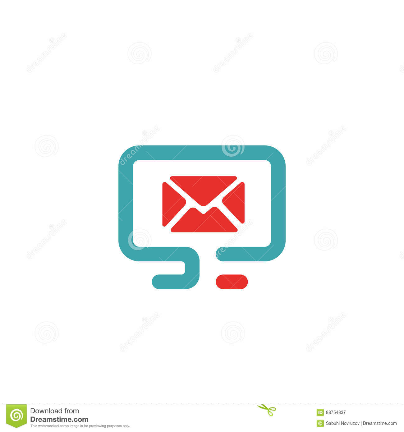 Vector Illustration Of Pc And Mail Icon Stock Vector Illustration