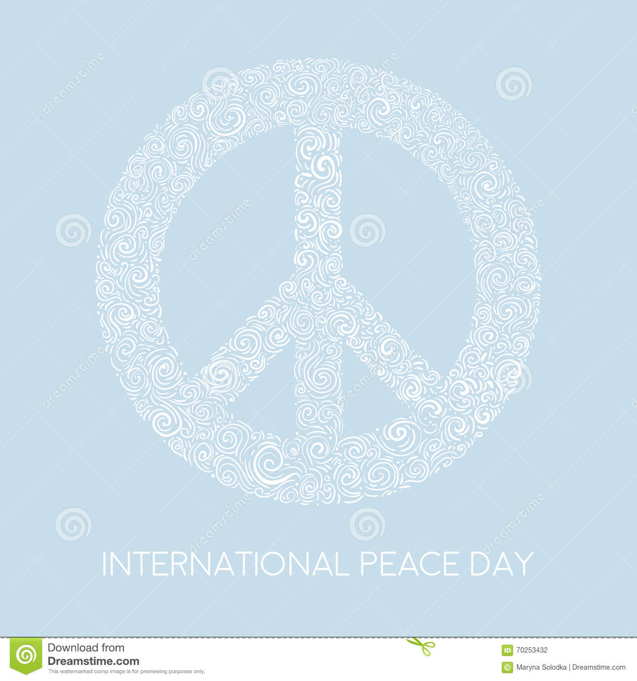 Vector illustration of peace sign on blue background template for vector illustration of peace sign on blue background template for international peace day biocorpaavc