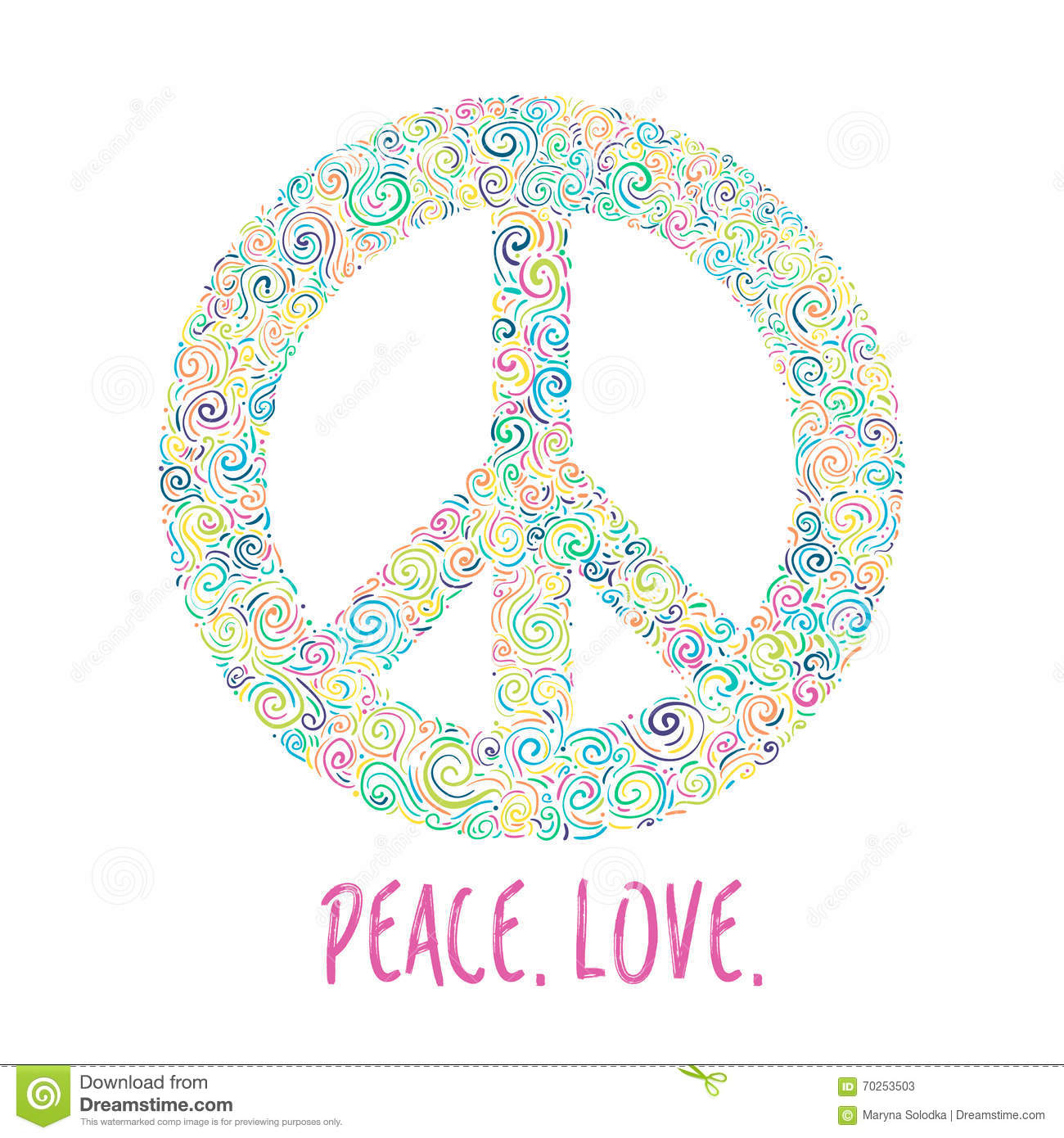 Vector illustration of peace sign on blue background template for download vector illustration of peace sign on blue background template for international peace day maxwellsz